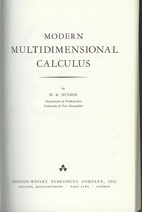 Modern multidimensional calculus by M. Evans…