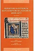 Repertorium initiorum manuscriptorum…