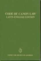 Codex Juris Canonici by Catholic Church