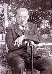 "Author photo. Giuseppe Tomasi di Lampedusa (1896-1957) - 11th prince of Lampedusa. Author of ""Il Gatopardo"" (The Leopard)"