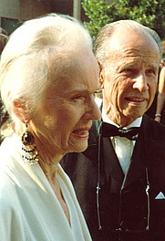 Author photo. Hume Cronyn and Jessica Tandy, <br>1988 Emmy Awards <br>(Credit: Alan Light)
