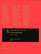 Annual Review of Anthropology, Vol. 40, 2011…