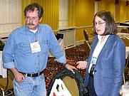 Author photo. Kevin O'Donnell Jr (left), Lois Tilton (right)