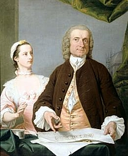 Author photo. Isaac Ware and his daughter by Andrea Soldi (1754)