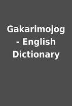 Gakarimojog - English Dictionary