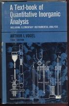 Textbook of Quantitative Inorganic Analysis…