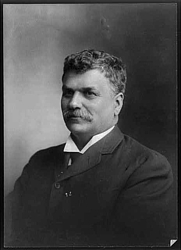 Author photo. Sam Walter Foss (1858-1911)<br> (George Grantham Bain Collection, <br>Library of Congress).