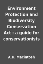 Environment Protection and Biodiversity…