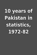 10 years of Pakistan in statistics, 1972-82