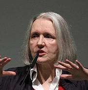 Author photo. Saskia Sassen. Photo courtesy BÜNDNIS 90/DIE GRÜNEN.