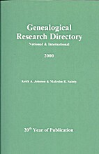 Genealogical Research Directory - National…