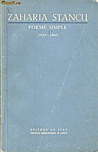 Poeme simple: 1923-1943 by Zaharia Stancu