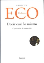 Experiences in Translation by Umberto Eco