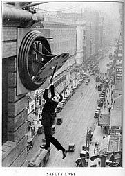 "Author photo. Harold Lloyd in ""Safety Last!"", 1923"