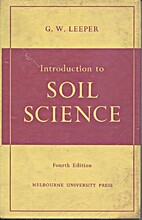 Introduction to soil science by G. W. Leeper