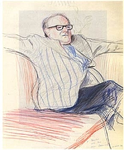 Author photo. David Hockney Portrait of Douglas Cooper