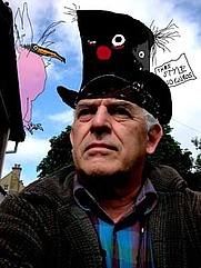 Author photo. copyright Ralph Steadman, photograph by Anna Steadman