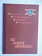History of the XX Corps Artillery, 21…