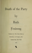 Death of the Party by Ruth Fenisong