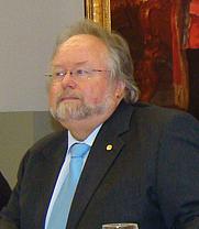Author photo. Prof. Alfried Wieczorek bei einer Pressekonferenz der Reiss-Engelhorn-Museen Mannheim im Mai 2011