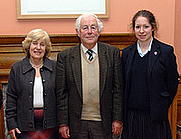Author photo. Malcolm Lyons (center) Oundle School