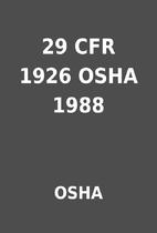 29 CFR 1926 OSHA 1988 by OSHA