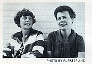 Author photo. Sisters Seon Manley (left) and Gogo Lewis (right). Picture by R. Paterline. From the rear jacket fold-in of their 19690 anthology SHAPES OF THE SUPERNATURAL.