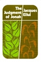 The judgment of Jonah by Jacques Ellul