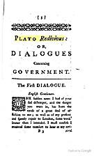 Plato redivivus; or, a dialogue concerning…