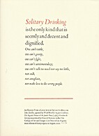 Solitary Drinking by Jane Grabhorn