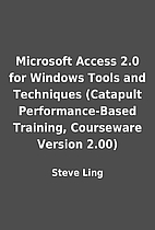 Microsoft Access 2.0 for Windows Tools and…