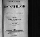 Traité pratique de droit civil français.…