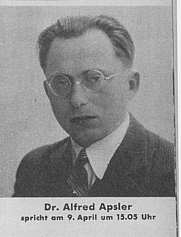 Author photo. Alfred Apsler