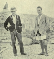 Author photo. Woolley (left) and T. E. Lawrence at Carchemish. Image from <i><a href=&quot;http://www.archive.org/details/deadtownslivingm00wooluoft&quot;>Dead Towns and Living Men</a></i> (1920) at the <a href=&quot;http://www.archive.org&quot;>Internet Archive</a>