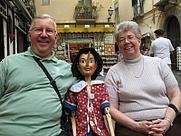 Author photo. Sorrento, May 2009, with Pinocchio.