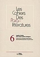 Cahiers des paralittératures n° 6: Agatha…