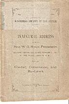 Inaugural address of Hon. W. G. Ritch,…
