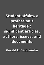 Student affairs, a profession's…