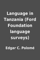 Language in Tanzania (Ford Foundation…