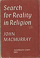 Search for Reality in Religion by John…