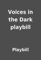 Voices in the Dark playbill by Playbill