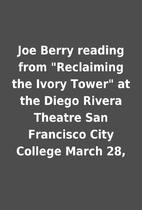Joe Berry reading from Reclaiming the Ivory…
