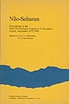 Nilo-Saharan: Proceedings of the First…