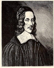 "Author photo. Portrait of George Herbert (poet) by Robert White in 1674. From National Portrait Gallery (UK) By Robert White - one or more third parties have made copyright claims against Wikimedia Commons in relation to the work from which this is sourced or a purely mechanical reproduction thereof. This may be due to recognition of the ""sweat of the brow"" doctrine, allowing works to be eligible for protection through skill and labour, and not purely by originality as is the case in the United States (where this website is hosted). These claims may or may not be valid in all jurisdictions.As such, use of this image in the jurisdiction of the claimant or other countries may be regarded as copyright infringement. Please see Commons:When to use the PD-Art tag for more information., Public Domain, <a href=""//commons.wikimedia.org/w/index.php?curid=3875395"" rel=""nofollow"" target=""_top"">https://commons.wikimedia.org/w/index.php?curid=3875395</a>"