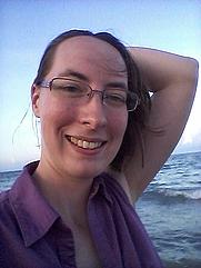 Author photo. On the Beach
