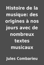 Histoire de la musique: des origines…