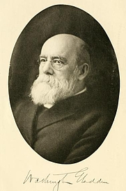 Author photo. Washington Gladden. Frontispiece from Recollections (1909).
