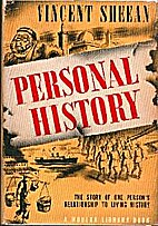 Personal History by Vincent Sheean