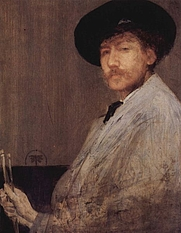 Author photo. &quot;Arrangement in gray&quot;<br> Self-portrait, 1872, Institute of Fine Arts, Detroit, Mich<br> (Yorck Project)