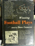 Winning Football Plays by David Camerer